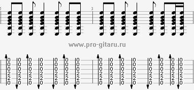 кончится лето аккорды - гитарный бой