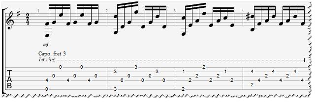 Табы для гитары к песне ое обійми
