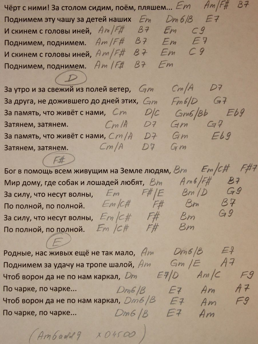 застольная розенбаум лепс кобзон аккорды
