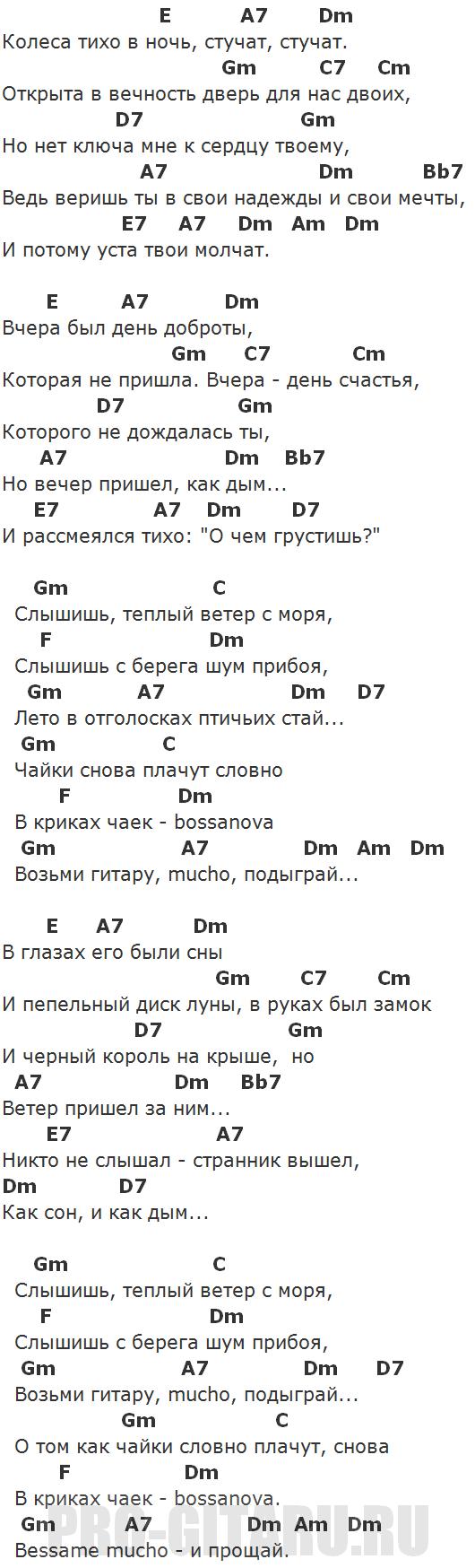 босанова аккорды