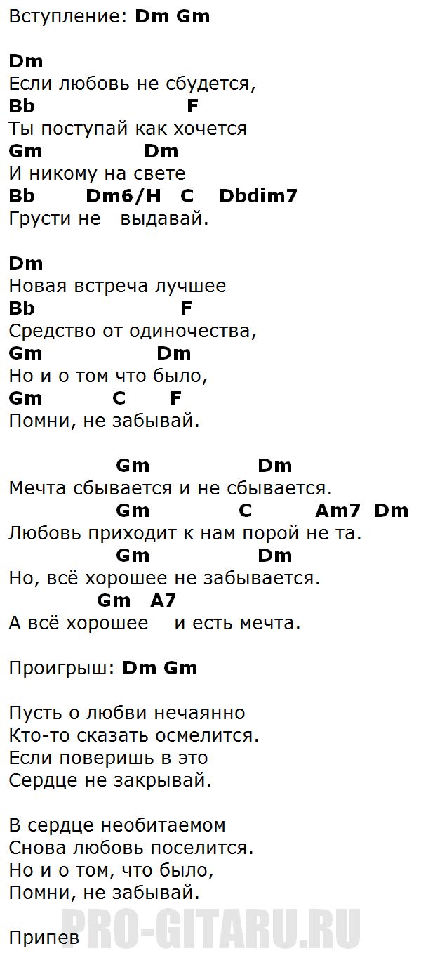 аккорды мечта антонов