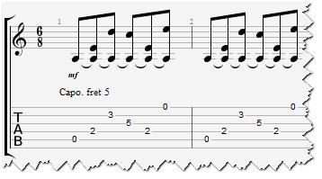 Пиковский расскажи гитарный перебор