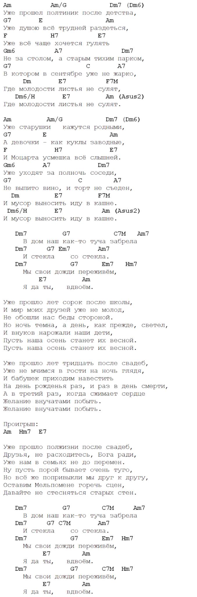 Розенбаум - Размышления на прогулке