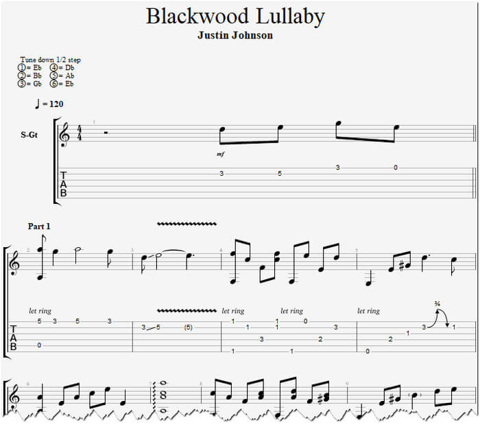 Blackwood Lullaby табы