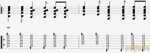 звезда рок н ролла аккорды - бой куплет