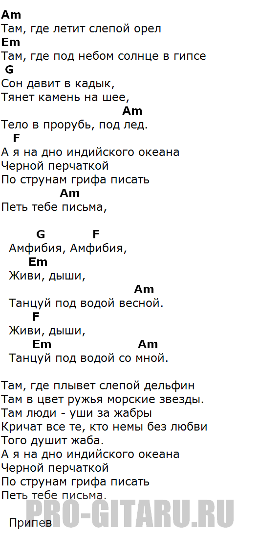 7б амфибия аккорды