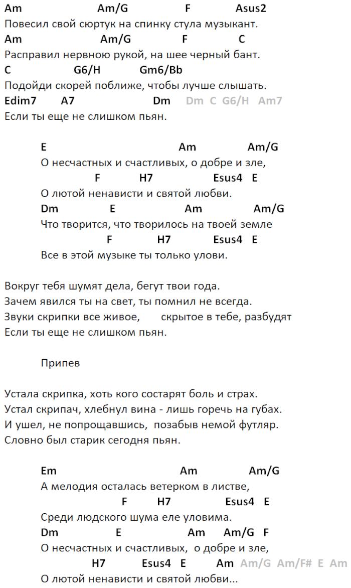 музыкант никольский аккорды
