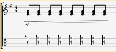 гитарный бой нарастание